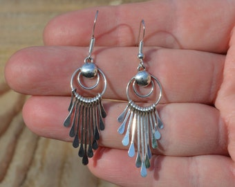 Boho Sterling Silver Dangle Earrings