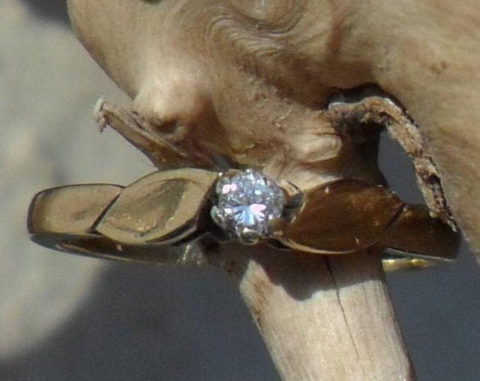 9ct Diamond Solitaire Ring, Gold Diamond Ring