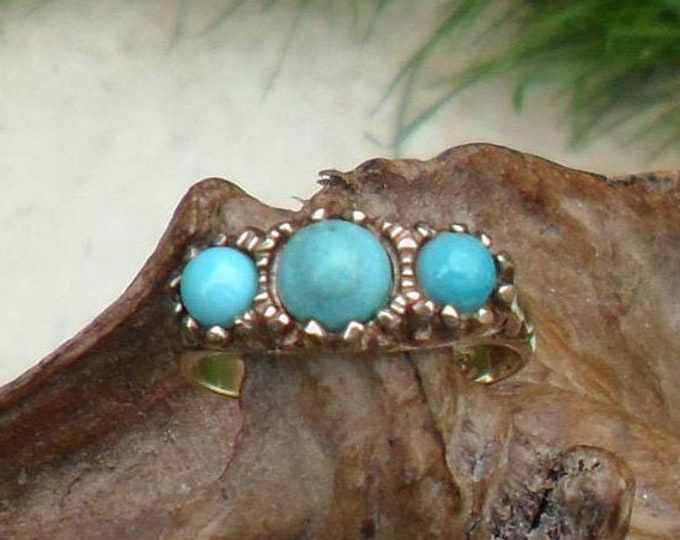 Vintage Turquoise Ring, 9ct Gold