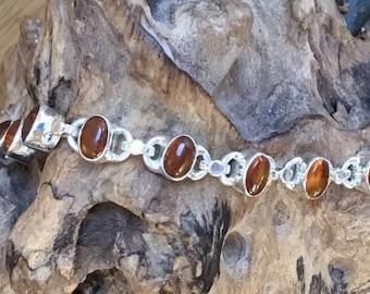 Sterling Silver Amber Bracelet