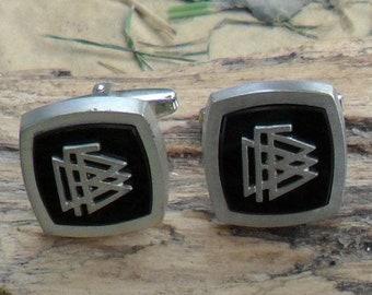 Silver Onyx Cufflinks