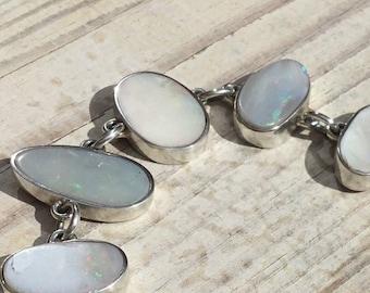 Sterling Silver Australian Opal Bracelet