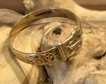 Gold Buckle Ring, Antique