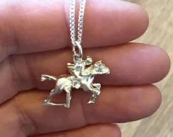 Sterling Silver Showjumping Horse