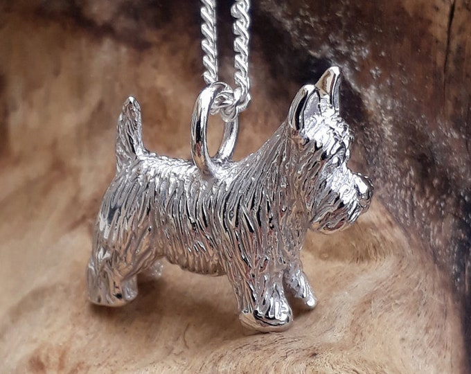 Silver Scottie Dog Pendant