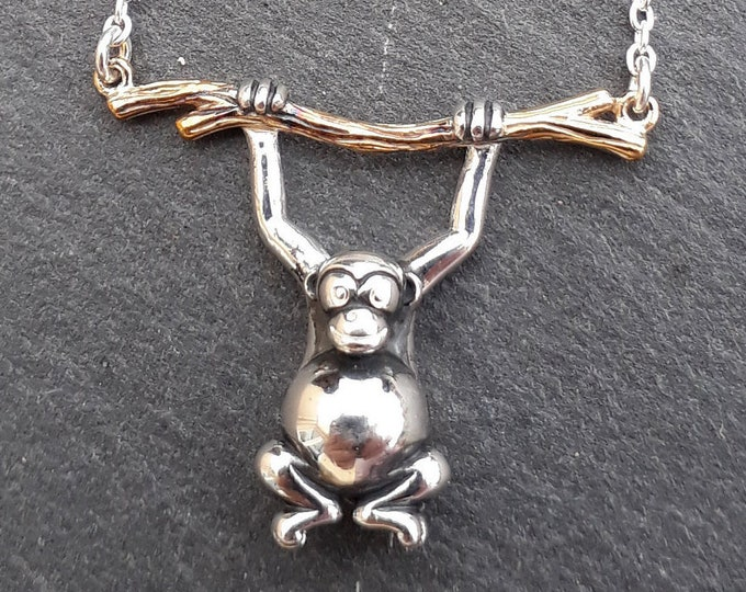 Monkey Necklace, Silver Monkey