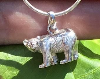 Silver 3D Polar Bear Pendant