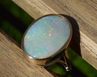 9ct Opal Ring, Australian Opal Ring