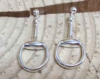 Silver Stirrup Earrings, Sterling Silver