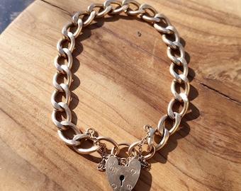 9ct Charm Bracelet, Gold Charm Bracelet, Solid Gold Bracelet, Antique Gold Bracelet