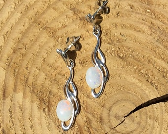 Coober Pedy Opal Drop Earrings