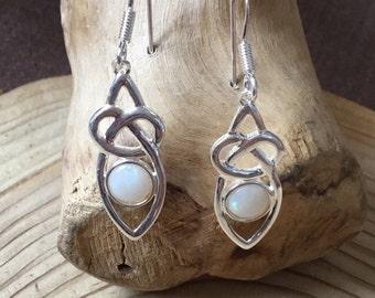 Silver Opal Celtic Drops