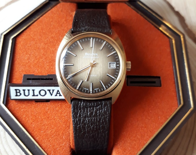 Bulova Ambassador Automatic Wristwatch and Original Box, Vintage