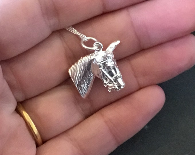 Sterling Silver Horse Pendant and Chain