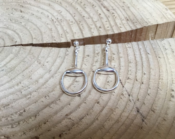 Sterling Silver Stirrup Earrings, Drops