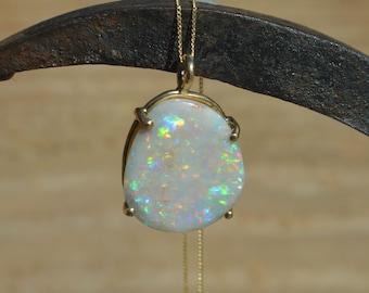 9ct Gold Opal Pendant, Australian Opal