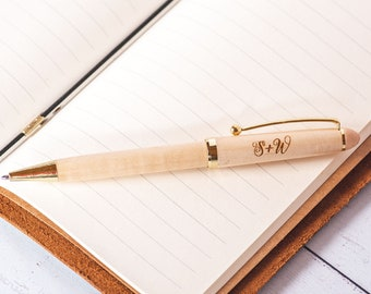 Custom engraved personalised Ball Point Pen in gift sleeve S5