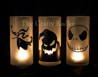 Nightmare before Christmas Candle Holders