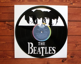 The Beatles Handmade Vinyl Record Art. **With Mock Sgt. Pepper's Lonely Hearts Club Band Album label**