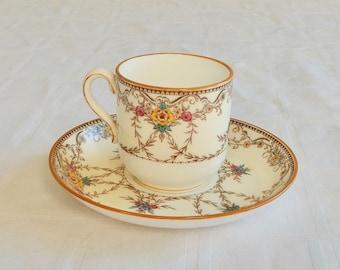 d8031567d8a SALE Minton Wilmington Demitasse Cup Saucer Set -Small English Porcelain Cup  and Saucer-Vintage Minton Porcelain Cup Set- English Cup/Saucer