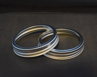 2 WIDE mouth canning jar bands rings