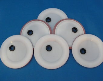 6 Wide Mouth Lids with grommets for fermenting or drinking glass