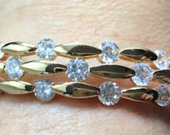 New Gold Crystal Bangle Bracelet