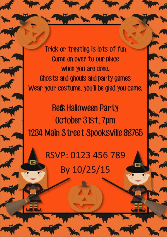 diy printable halloween party invitation pumpkin halloween etsy