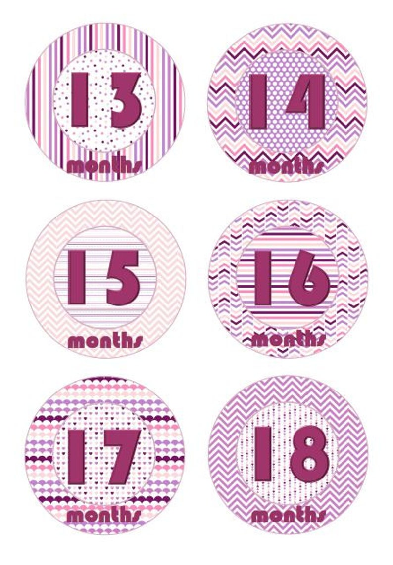 Baby Milestone Photo shoot labels Purple Unisex Baby Gift Set Keepsake Photo Memories Photo Shoot Sticker Set New Mum or Baby Shower Gift