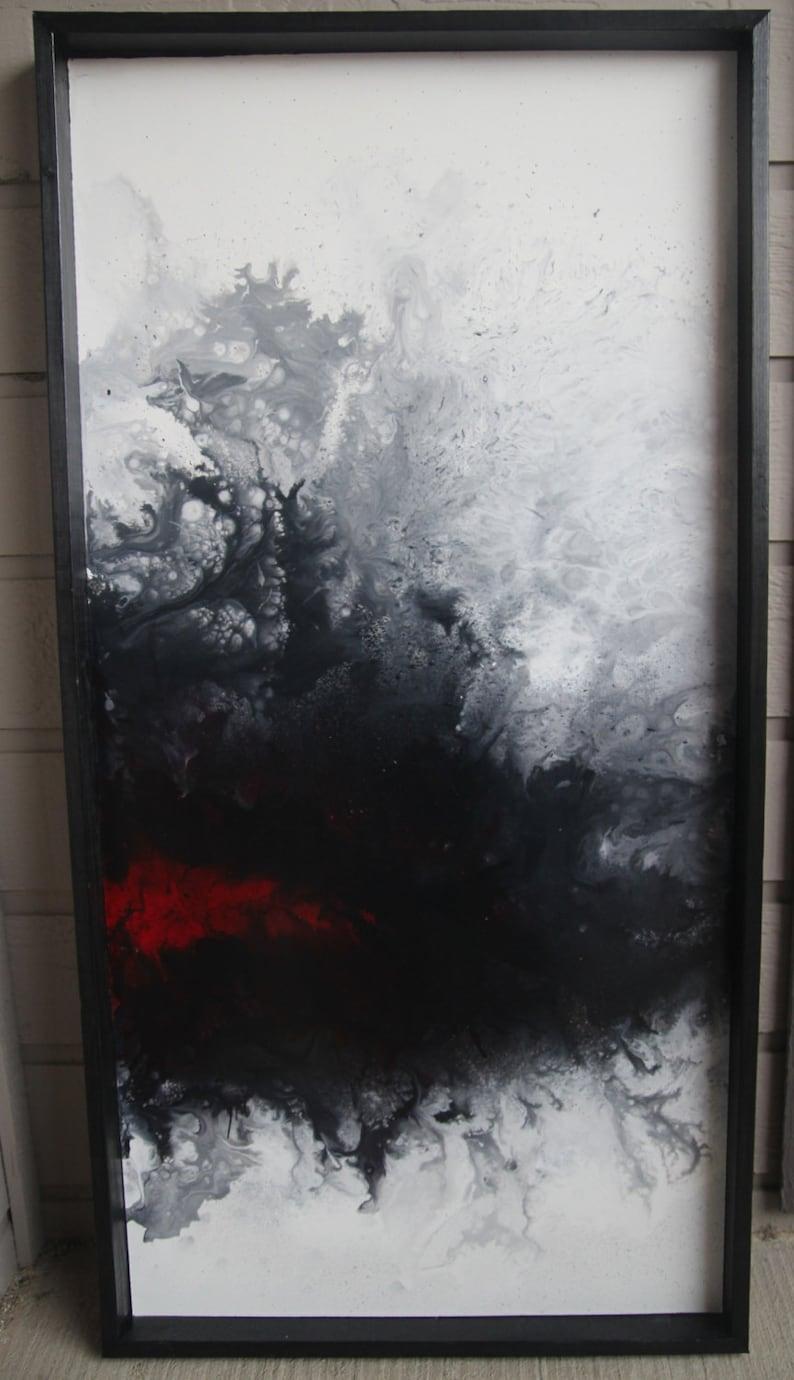 Trinitrotoluene  24x48  Original abstract fluid acrylic image 0