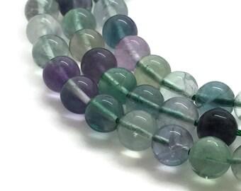 8mm Natural Fluorite Beads Round 8mm Fluorite 8mm Rainbow Fluorite Gemstone Fluorite Rough Fluorite Wholesale Fluorite 8 mm Beads 8 mm