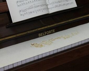 Schrejderiha Klavierläufer Tastenläufer bestickt aus 100/% Wolle Blau 340