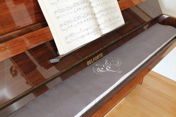 Klavierläufer Tastenläufer Tastaturabdeckung Tastenschutz 100/% Wollfilz Creme