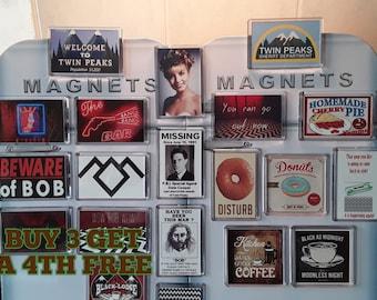 a21a034a1a04 Twin Peaks Fridge Magnet. Choice of Design. Agent Cooper, Coffee, Bob