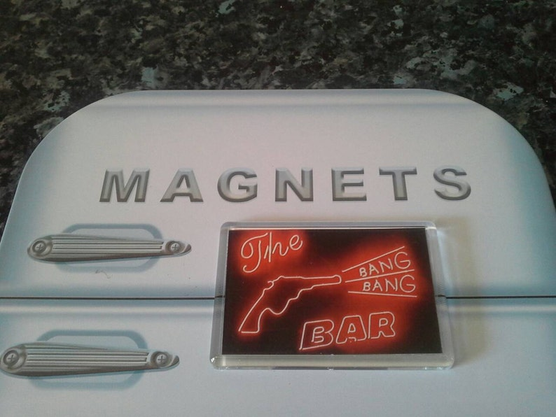 34a8b237c57e2 Twin Peaks Bang Bang Bar Fridge Magnet. Neon Sign, Road House