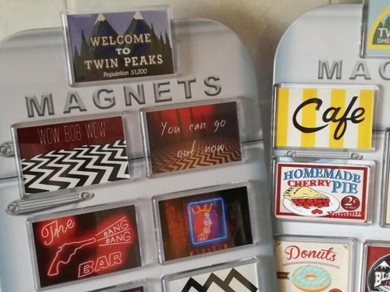 1af3a7b1e84d1 Twin Peaks Epic Fridge Magnet Set. Laura Palmer, Lynch, Bob