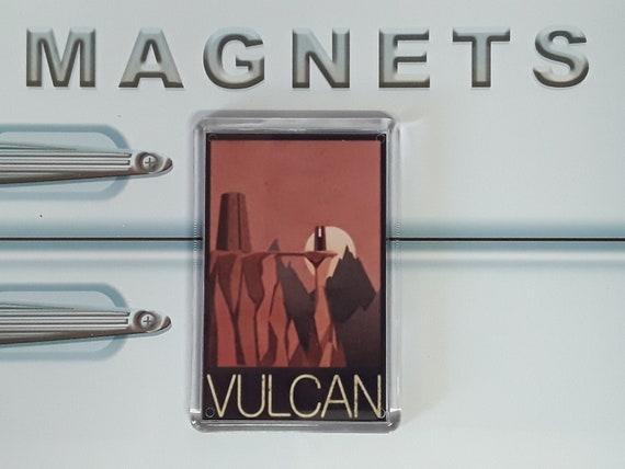 Star Trek Art Deco Vulcan Travel Poster Keyring and Magnet Set Spock