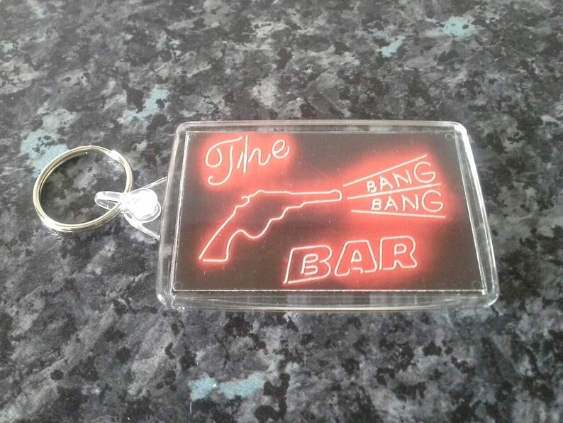 7ace1f3afb9e7 Twin Peaks Bang Bang Bar Jumbo Keyring. Neon Sign, Road House