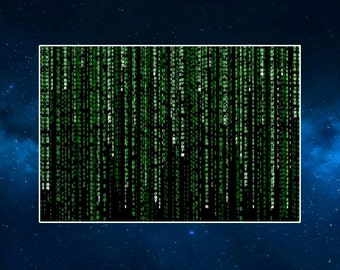 Matrix Code Fridge Magnet. Sci Fi. Computer Text