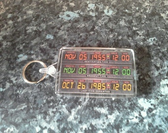 Time Circuits On Jumbo Keyring. Inspired by Back to the Future. Flux Capacitor