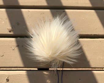 Large Faux Fur Pom Pom - SNOW