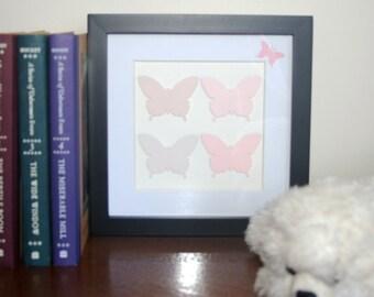 papercut butterflies in soft marshmallow