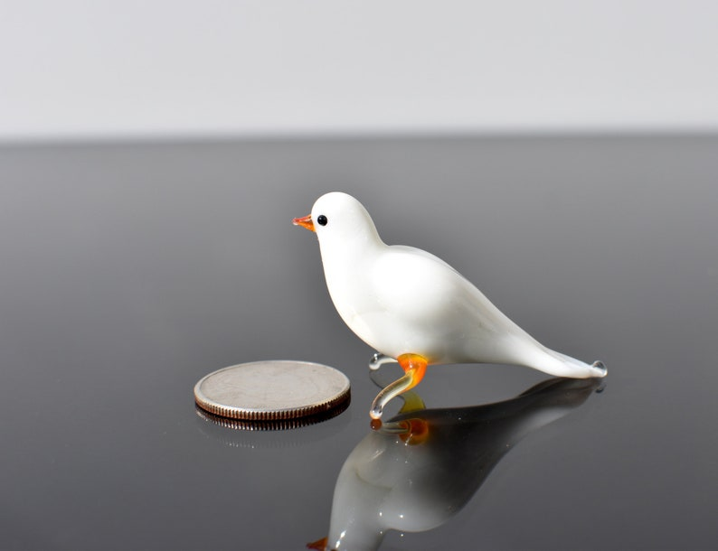 Excellent addition to your glass figurines collection. Beautiful white dove bird Detailed figurine with a lot of personality