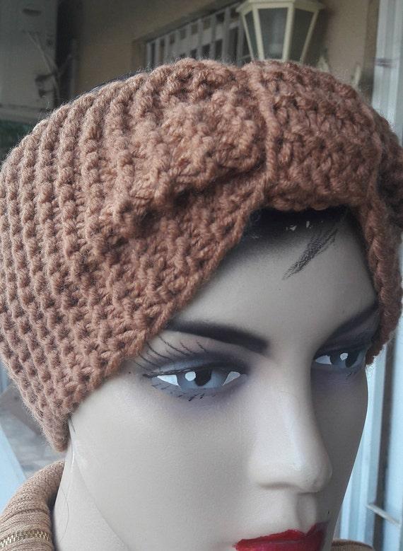 Tan Strick Stirnband Wolle stricken Stirnband Tan | Etsy
