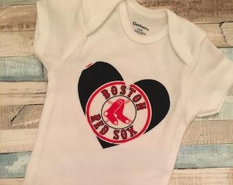 Baby Infant Creeper Romper NB-24M Red Sox Boston Baseball Stadium One Piece