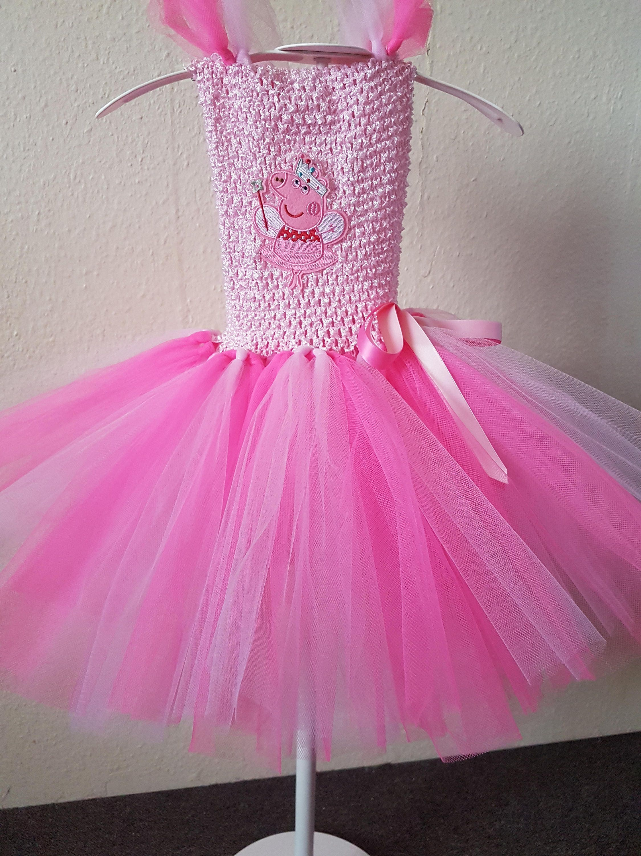 Peppa Pig inspirado Crochet tutú rosa princesa partido vestido   Etsy