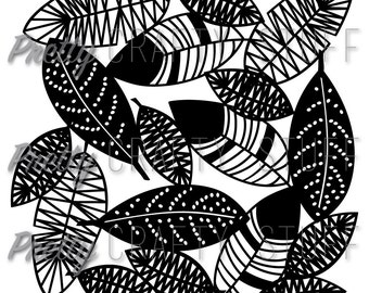 Cut file - Feather background SVG and PNG file for your electronic die cut machine