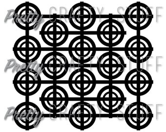 Cut file - Circles and lines background SVG and PNG file for electronic die cut machines