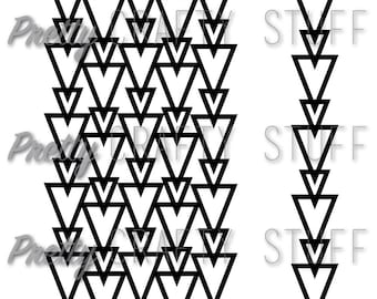Cut file - Stacked outlined triangles background SVG and PNG file for electronic die cut machines