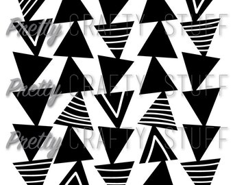 Cut file - Triangles background SVG and PNG file for electronic die cut machines